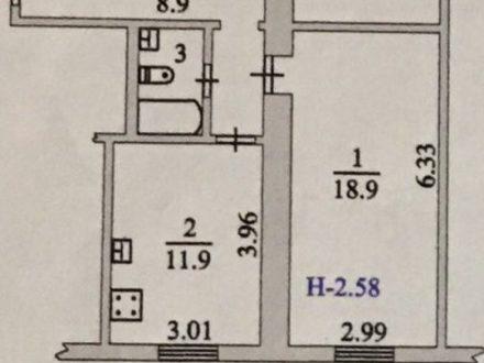 Продам однокомнатную квартиру на 2-м этаже 4-этажного дома площадью 42 кв. м. в Салехарде