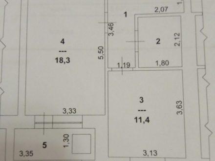Продам однокомнатную квартиру на 8-м этаже 9-этажного дома площадью 40,1 кв. м. в Ханты-Мансийске