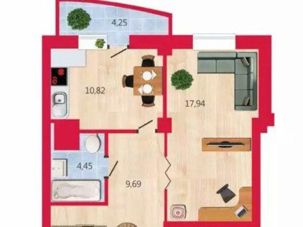 Продам однокомнатную квартиру на 12-м этаже 16-этажного дома площадью 40 кв. м. в Омске