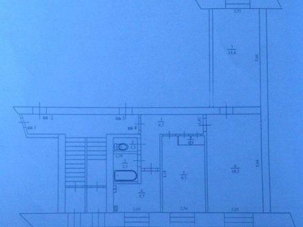 Продам трехкомнатную квартиру на 1-м этаже 5-этажного дома площадью 60 кв. м. в Кызыле
