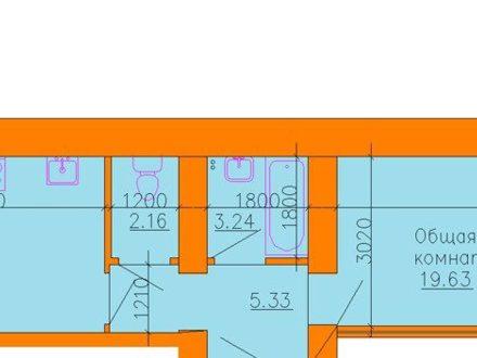 Продам однокомнатную квартиру на 12-м этаже 15-этажного дома площадью 46 кв. м. в Рязани