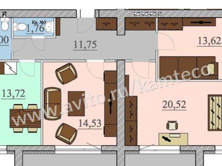 Продам трехкомнатную квартиру на 5-м этаже 6-этажного дома площадью 90 кв. м. в Петрозаводске