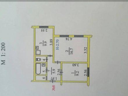 Продам двухкомнатную квартиру на 2-м этаже 2-этажного дома площадью 46 кв. м. в Салехарде