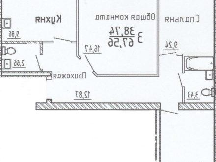 Продам трехкомнатную квартиру на 4-м этаже 5-этажного дома площадью 68 кв. м. в Кемерово