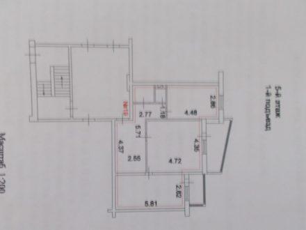 Продам двухкомнатную квартиру на 5-м этаже 5-этажного дома площадью 68 кв. м. в Курске