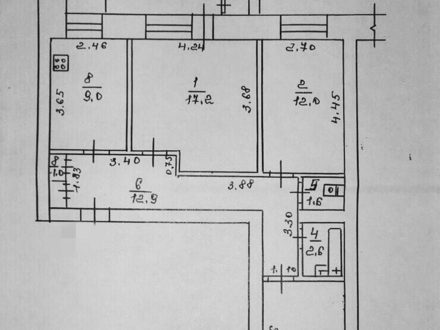 Продам трехкомнатную квартиру на 1-м этаже 5-этажного дома площадью 65 кв. м. в Якутске