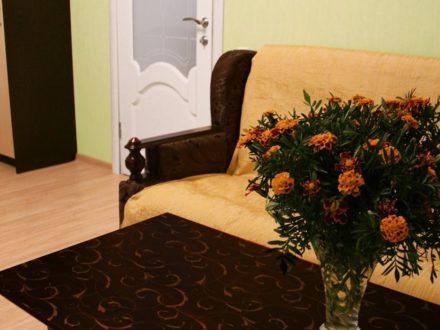 Сдам посуточно однокомнатную квартиру на 3-м этаже 10-этажного дома площадью 44 кв. м. в Твери
