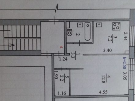 Продам однокомнатную квартиру на 2-м этаже 5-этажного дома площадью 30 кв. м. в Благовещенске