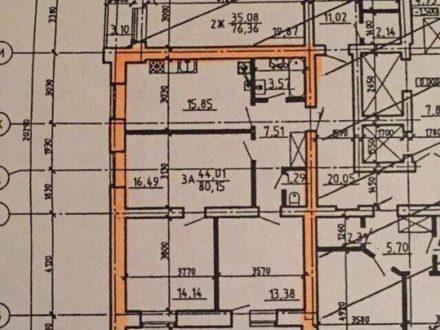 Продам однокомнатную квартиру на 1-м этаже 10-этажного дома площадью 80 кв. м. в Твери