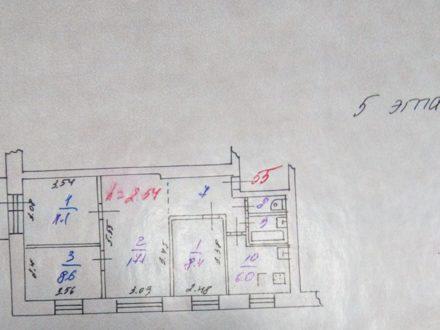 Продам четырехкомнатную квартиру на 5-м этаже 5-этажного дома площадью 62 кв. м. в Ярославле