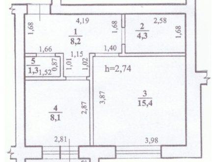 Продам однокомнатную квартиру на 3-м этаже 3-этажного дома площадью 37,3 кв. м. в Чите