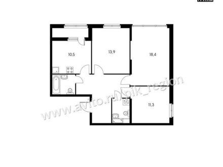 Продам трехкомнатную квартиру на 24-м этаже 24-этажного дома площадью 76 кв. м. в Ростове-на-Дону