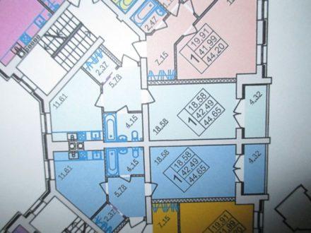 Продам однокомнатную квартиру на 3-м этаже 5-этажного дома площадью 45 кв. м. в Костроме