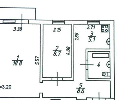 Продам двухкомнатную квартиру на 2-м этаже 4-этажного дома площадью 48 кв. м. в Нальчике