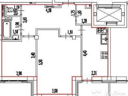 Продам двухкомнатную квартиру на 4-м этаже 5-этажного дома площадью 53,4 кв. м. в Нарьян-Маре