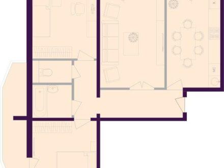 Продам пятикомнатную квартиру на 8-м этаже 10-этажного дома площадью 78,4 кв. м. в Брянске