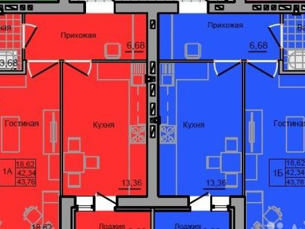 Продам однокомнатную квартиру на 8-м этаже 9-этажного дома площадью 44 кв. м. в Иваново