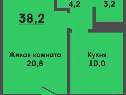 Продам однокомнатную квартиру на 4-м этаже 5-этажного дома площадью 38,2 кв. м. в Улан-Удэ