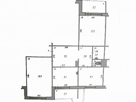 Продам трехкомнатную квартиру на 1-м этаже 9-этажного дома площадью 78 кв. м. в Самаре