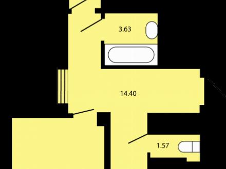 Продам двухкомнатную квартиру на 4-м этаже 16-этажного дома площадью 77 кв. м. в Краснодаре