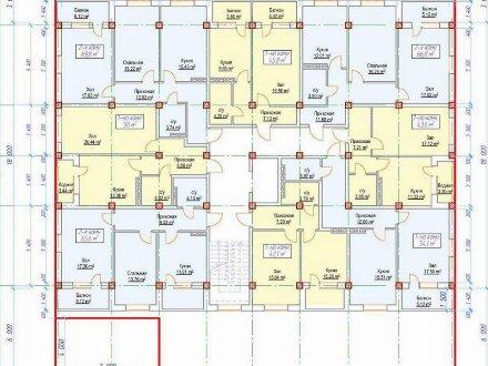 Продам двухкомнатную квартиру на 7-м этаже 9-этажного дома площадью 69 кв. м. в Махачкале