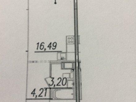 Продам студию на 16-м этаже 18-этажного дома площадью 25 кв. м. в Санкт-Петербурге